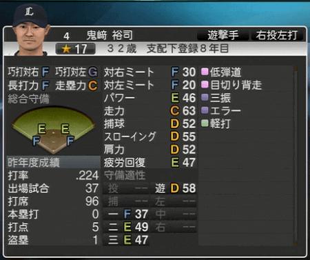 鬼﨑 裕司 プロ野球スピリッツ2015 ver1.06