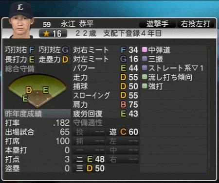 永江 恭平 プロ野球スピリッツ2015 ver1.06