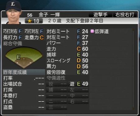金子 一輝 プロ野球スピリッツ2015 ver1.06