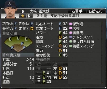 大﨑 雄太朗 プロ野球スピリッツ2015 ver1.06