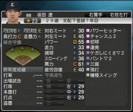 坂田 遼 プロ野球スピリッツ2015 ver1.06
