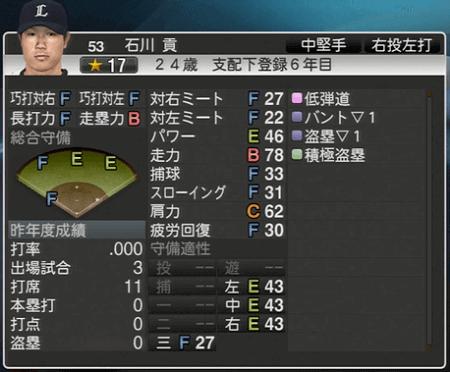 石川 貢 プロ野球スピリッツ2015 ver1.06