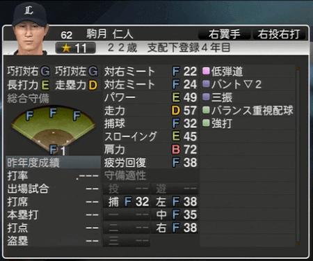 駒月 仁人 プロ野球スピリッツ2015 ver1.06
