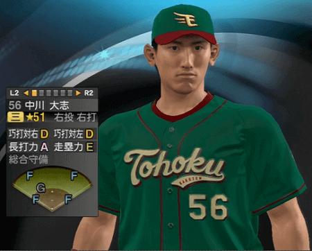 中川大志 プロ野球スピリッツ2015 ver1.06