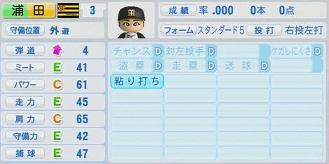 浦田剛也 実況パワフルプロ野球2014