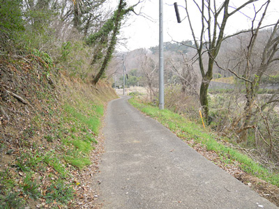 土屋霊園傍の道