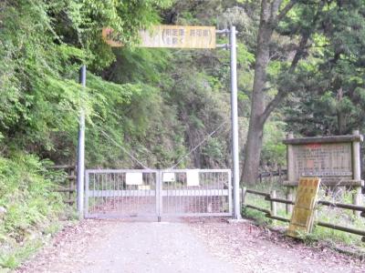 林道入り口