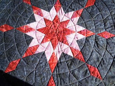 バージニアの星拡大円形キルト