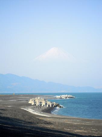 三保の松原から富士