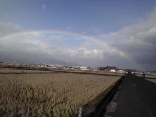 虹の右の方