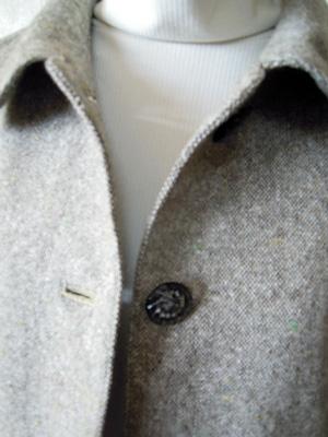 薄手ネップツイードジャケット襟