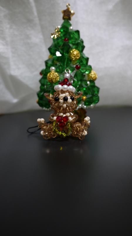 20141224ビーズツリーとクリスマステディ