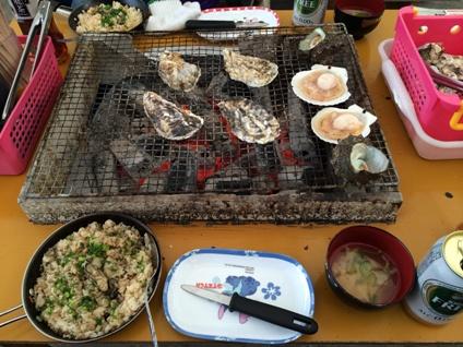 糸島カキ焼き (3)