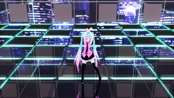 electric love MIKU on the stage test