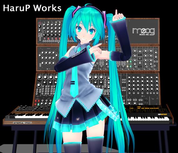 MIKU with Moog3c+Prophet-5+Arp