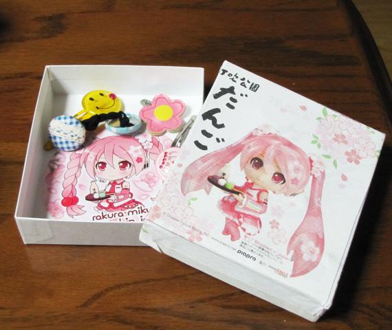 桜ミク 髪飾り入れ代用