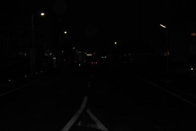 夜の事故現場(1)