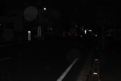 夜の事故現場(2)