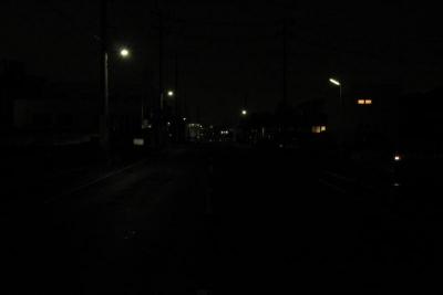 夜の事故現場(3)