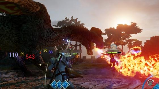 火を吹くハイドラゴン
