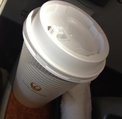 JAL125便 食後のコーヒー