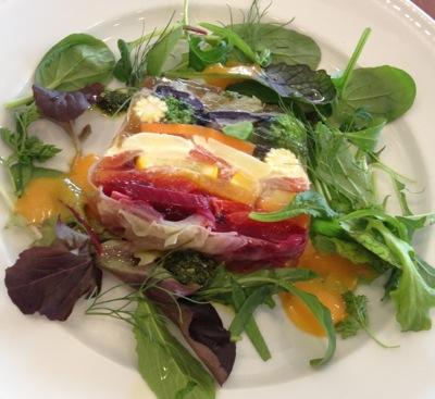 野菜とハーブの自家製テリーヌ