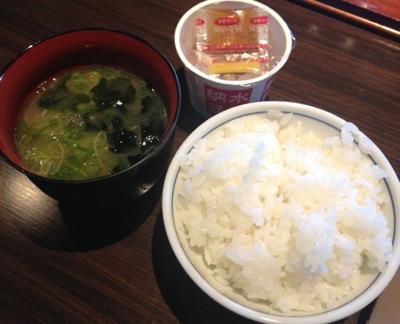 ご飯・お味噌汁・納豆