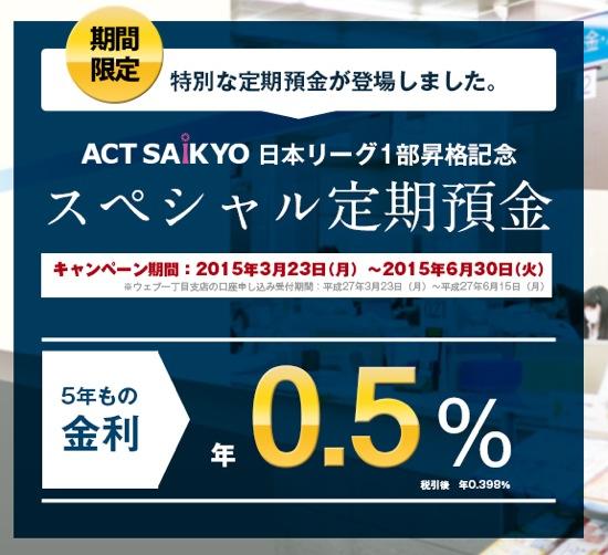 西京銀行 スペシャル定期預金