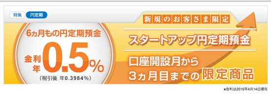 新生銀行 スタートアップ円定期預金