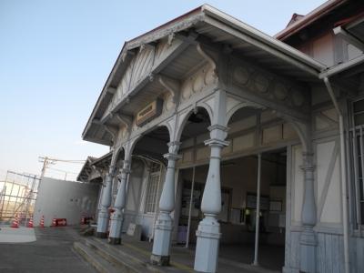 浜寺公園駅 柱
