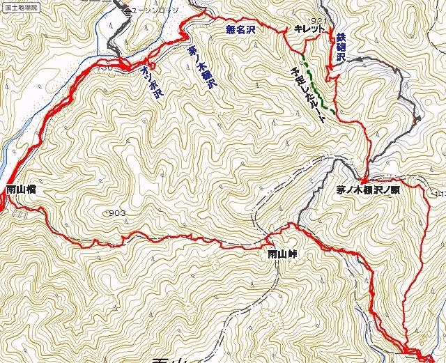 カヤノキダナ山稜