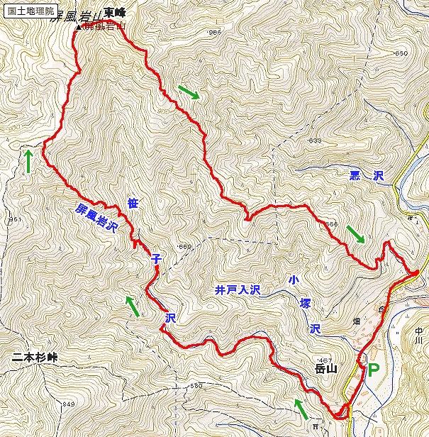 笹子沢大滝