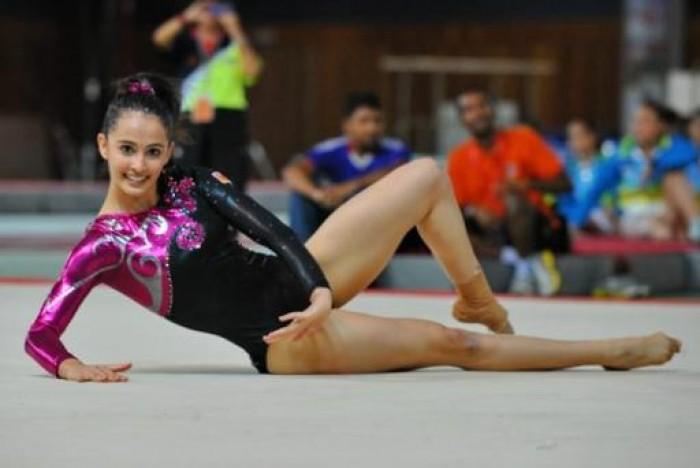 「性器の形見える」と批判された体操女子マレーシア代表のファラー・アン・アブドル・ハジのレオタード姿