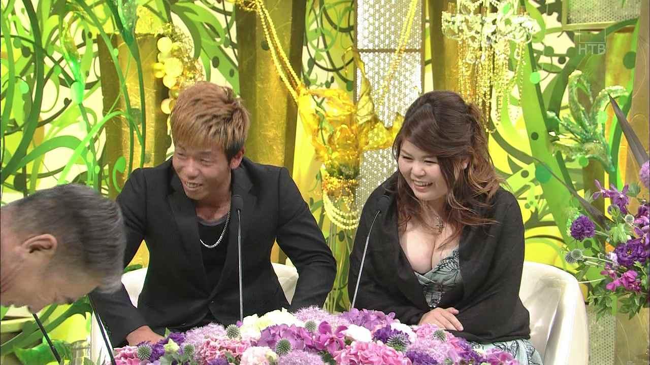 「新婚さんいらっしゃい!」に2015年6月28日に出演した爆乳で谷間ガバガバ妻の旦那「ただやりたい」