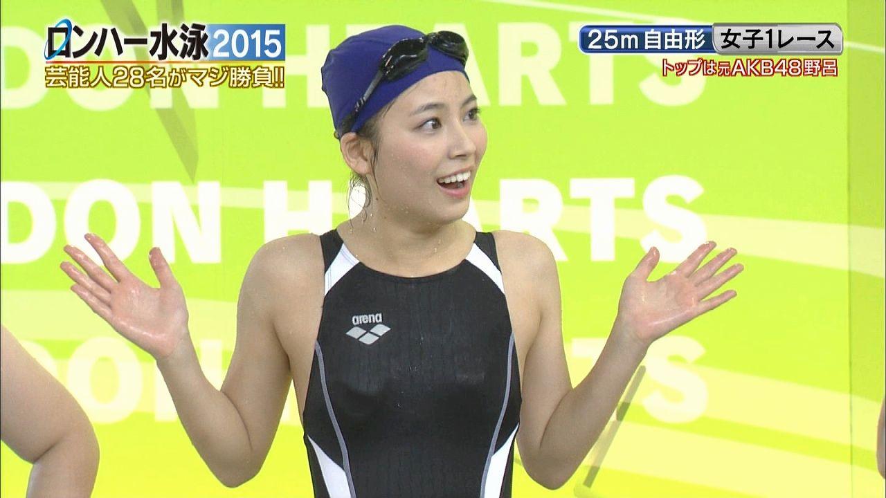 テレ朝「ロンハー水泳2015」で競泳水着を着たグラドル