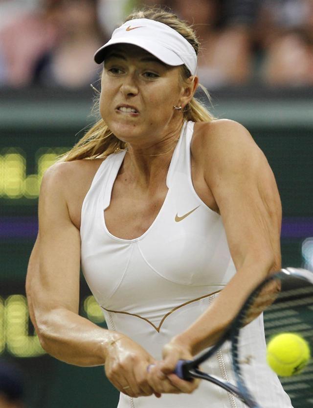 女子テニスプレーヤーのマリア・シャラポワの筋肉