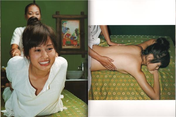 前田敦子1st写真集画像、上半身裸でマッサージされる前田敦子