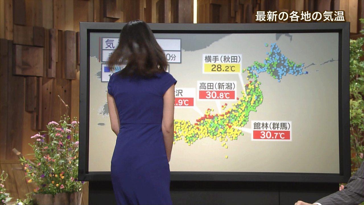 2015年7月13日のテレ朝「報道ステーション」、衣装が薄すぎてパンツが透けて見えてる小川彩佳アナ