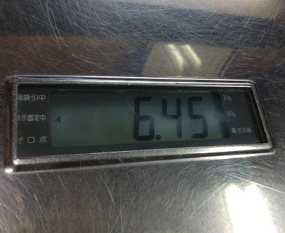 体重が増えまちた