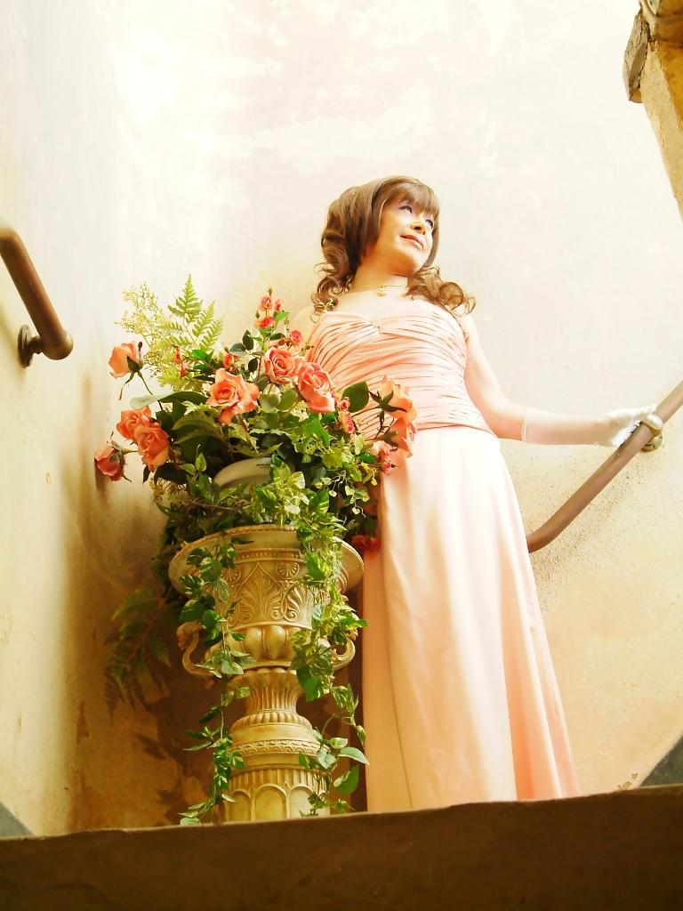 091207薄桃ロングドレス(1)