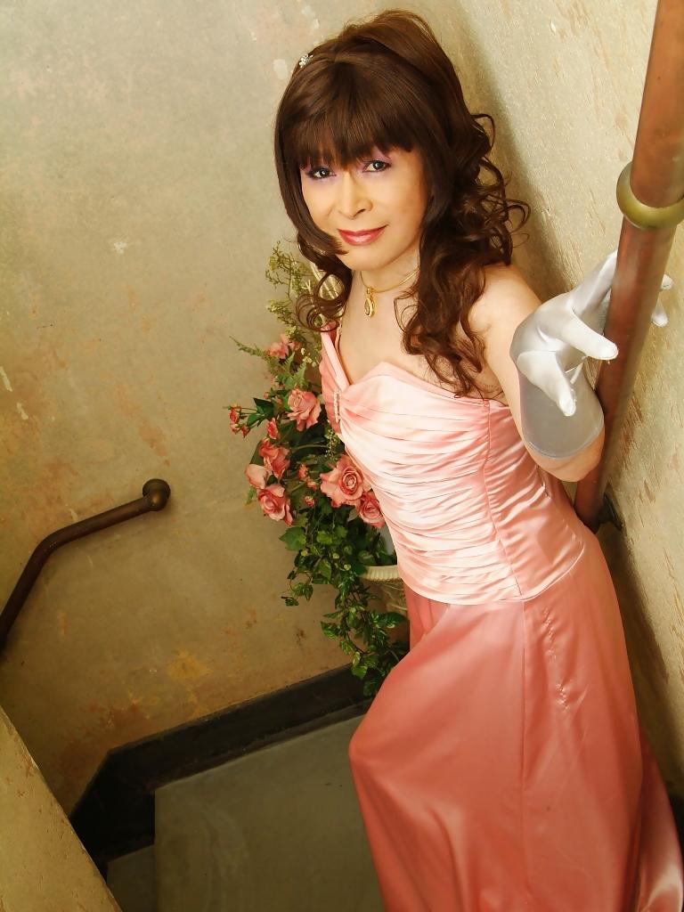 091207薄桃ロングドレス(2)