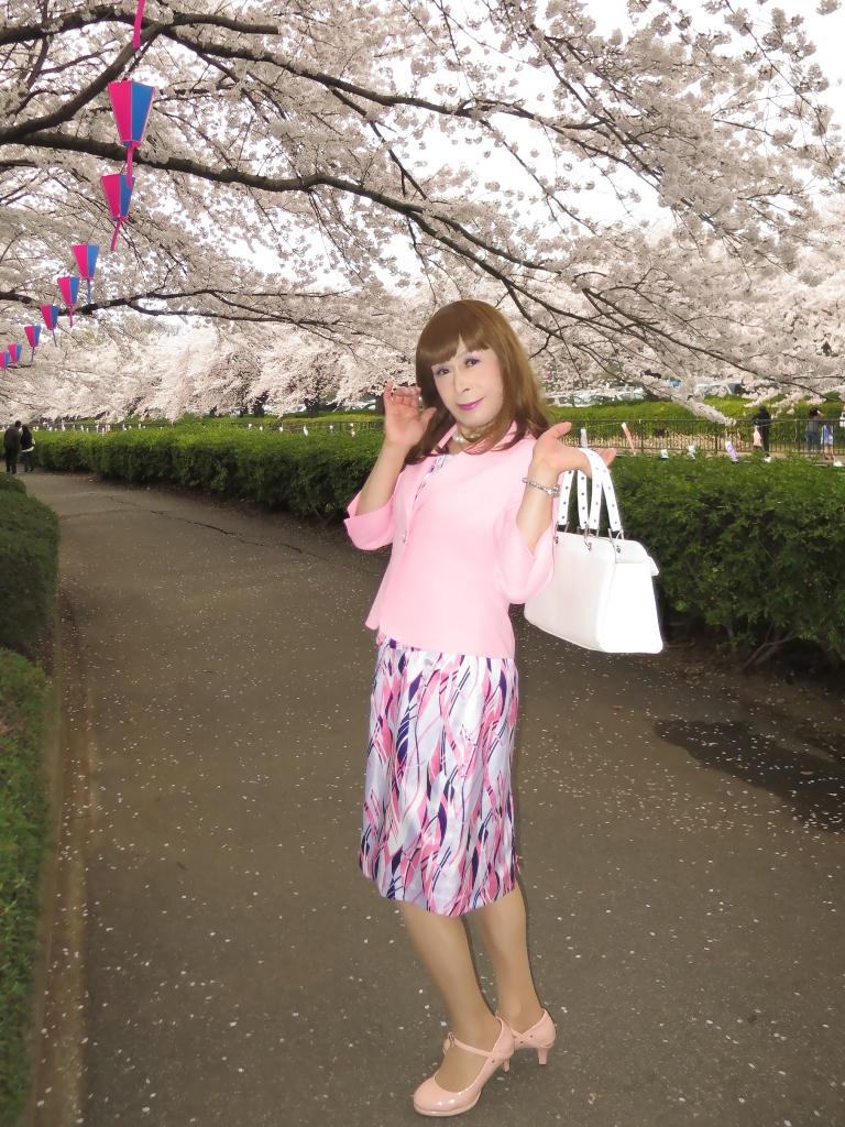 ピンクスーツ桜B(7)