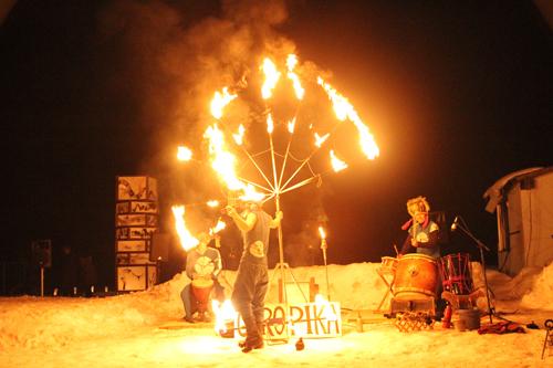 湯野上温泉火祭り2015015