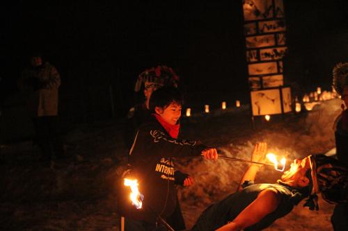 湯野上温泉火祭り2015011