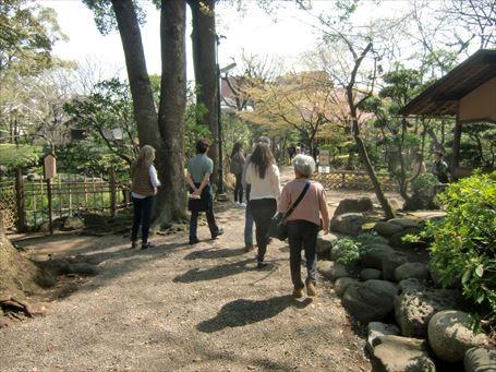 伝法院庭園拝観 庭園入口
