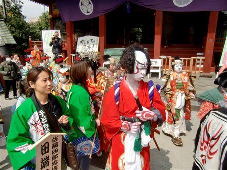 こども歌舞伎のお練り