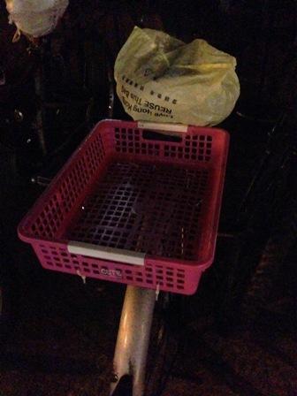 自転車の荷台です