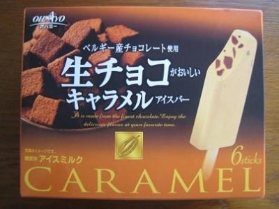 生チョコがおいしいキャラメルアイスバー