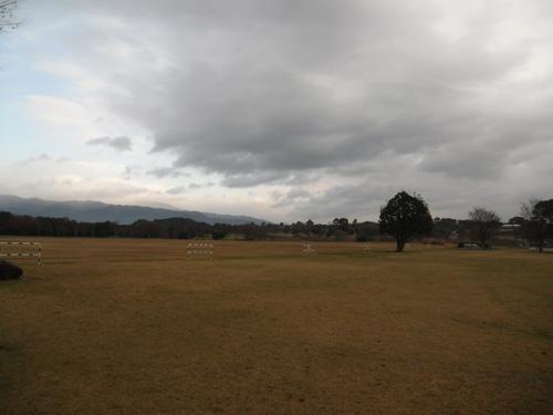 小雨の吉野ケ里歴史公園
