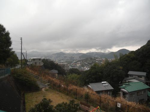 雨降りの日です。